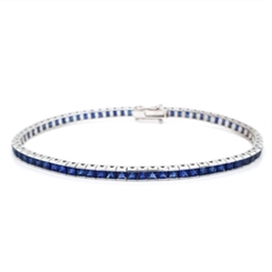 Channel Set Sapphire Line Bracelet 8.36ct
