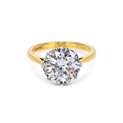 4.03ct I VVS1 Brilliant Cut Single Stone Engagement Ring