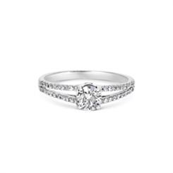 Diamond Single Stone With Split  Diamond Shoulders 0.80ct