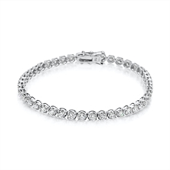 Brilliant Cut Diamond Claw Set Tennis Bracelet 5.53ct