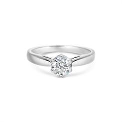 Six Claw Diamond Set Single Stone Engagement Ring 0.65ct