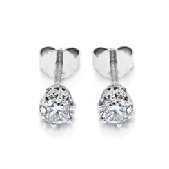 Old Cut Diamond Studs With Diamond Set Sides 0.81ct