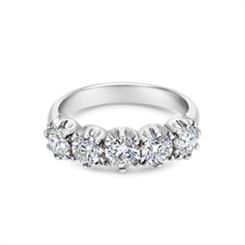Diamond Five Stone Claw Set Half Eternity Ring 2.00ct