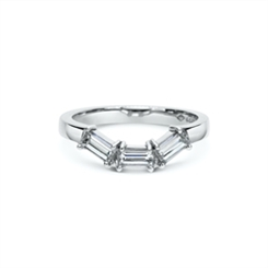 Baguette Diamond Fitted Wedding Band 0.63ct