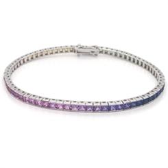 Rainbow Sapphire Channel Set Bracelet 7.18ct