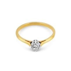Brilliant Cut Diamond Solitaire Engagement Ring 0.30ct