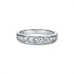Brilliant Cut Diamond Graduated Half Eternity Ring 0.80ct