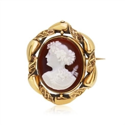Victorian Stone Cameo Set In 18ct Gold