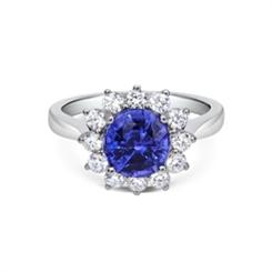 Sapphire & Diamond Cluster Dress Ring 2.66ct