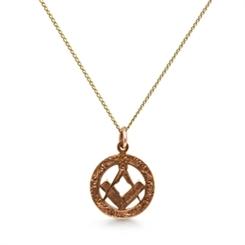 Round Masonic Gold Pendant