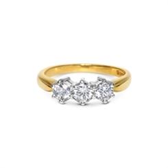 Three Stone Brilliant Cut Diamond Ring 1.00ct