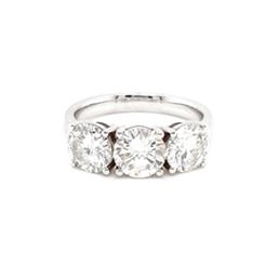 Brilliant Cut Diamond Three Stone Ring 3.06ct