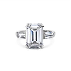 Emerald Cut Diamond Engagement Ring 5.04ct