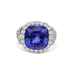 Tanzanite & Diamond Cocktail Ring 9.37ct