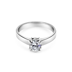 Oval Claw Set Solitaire Engagement Ring 0.53ct