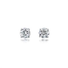 Brilliant Cut Claw Set  Diamond Stud Earrings 0.46ct