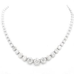Brilliant Cut Diamond Necklace 12.34ct