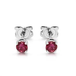 Ruby Claw Set Stud Earrings 0.74ct