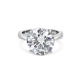 5.11ct F VS1 Brilliant Cut Diamond Claw Set Engagement Ring
