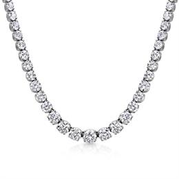 Graduated Brilliant Cut Diamond Necklace 12.07ct