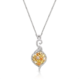 Yellow Diamond Fancy Drop Pendant 1.72ct