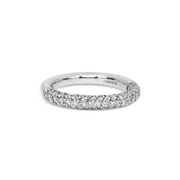 Brilliant Cut Diamond Four Row Half Eternity Ring