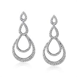 Fancy Brilliant Cut Diamond Drop Earrings 5.27ct