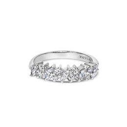 Diagonal Marquise Cut Diamond Half Eternity Ring 0.60ct