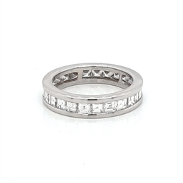 Channel Set Carre Cut Full Eternity Ring 2ct Approx