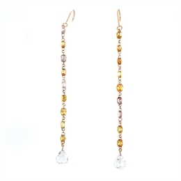 Natural Fancy Coloured Diamond Drop Earrings 3ct Approx