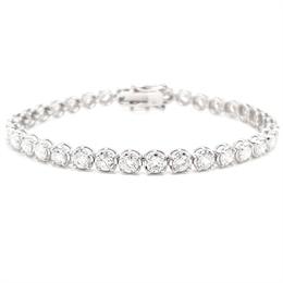 Diamond Claw Set Tennis Bracelet 6.91ct