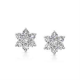 Daisy Diamond Cluster Earrings 1.54ct