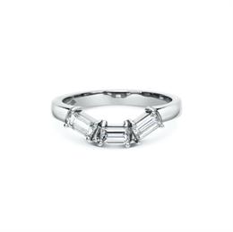 Claw Set Baguette Cut Shaped Wedding Band 0.63ct