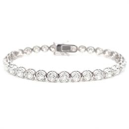 Brilliant Cut Claw Set Diamond Tennis Bracelet 8.02ct
