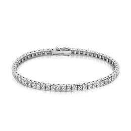 Channel Set Princess Cut Diamond Line Bracelet 8.50ct