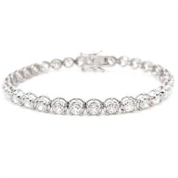 Brilliant Cut Diamond Claw Set Line Bracelet 7.83ct