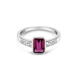 Pink Tourmaline & French Cut Diamond Ring 2ct Approx