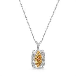 Fancy Yellow Brilliant Cut Diamond Pendant 1.40ct