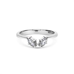 Marquise Cut Diamond Wedding Band 0.20ct